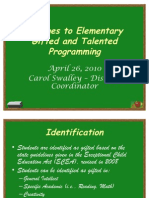 Elementary Gifted and Talented Programming