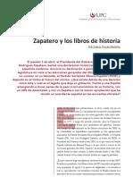 Zapatero y los libros de historia