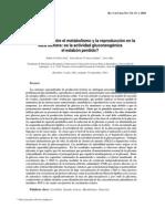 (5) Interacciones Entre El Metabolismo y La Reproducccion