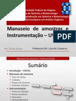 Manuseio de amostras e instrumenta+º+úo-Isis