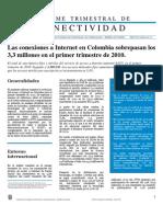 Informe Trimestral de Conectividad