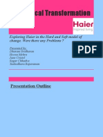 MIOC Analysis Haier Change Model