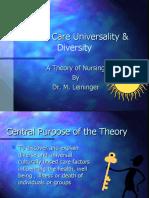 Leininger2 - Culture Care Universality & Diversity