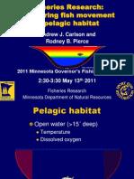 Monitoring fish movement in their pelagic habitat