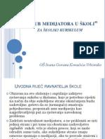 OŠ Ivana Gorana Kovačića Vrbovsko - Klub medijatora u skoli