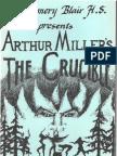 "Program for ""The Crucible,"" performed at Montgomery Blair H.S., November 1987, dir. Thomas Mather (program designed by Dave Lanxner)"