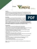 Community Grows, Garden Educator Job Description, May 2011