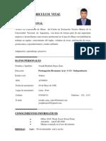CV [Joseph Rojas Saire]