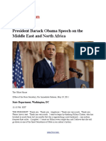 President Barack Obama Speech on the Middle East and North Africa