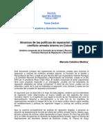 Alcances de Las Politicas de Reparacion a Victimas Del Conflicto Armado Interno en Col y Peru