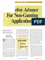 Gameboy Advance for Nongaming Applications