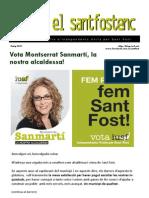 El Santfostenc, maig 2011 (carta de la nostra alcaldessa)