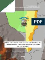 PLAN DISTRITAL DE GESTIÓN DEL RIESGO DE DESASTRES DE LA MUNICIPALIDAD DE TRES DE DICIEMBRE