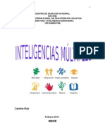 TRABAJO SOBRE  INTELIGENCIAS MÚLTIPLES I