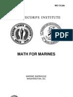 Math for Marines
