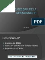 Categoria de La Direcciones Ip