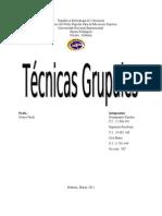 Trabajo. tecnicas grupales