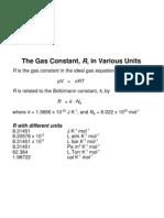 Gas Constant Units