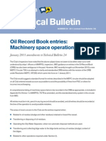 oil record book filling