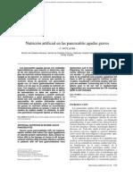 nutrición artificial  pancreatitis grave