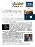 Smith Family to Argentina May Prayer Letter 2011