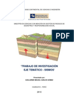 Análisis estadístico de sismos en Perú