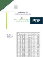 Database GIS Fundamentals