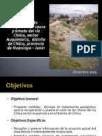 Exposición proyecto de tratamiento del río Chilca tramo auquimarca río Mantaro-2009
