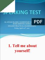 Speaking Test