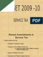 latestamendmentsinservicetaxafterbudget-2009-090710005525-phpapp01