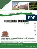 SLIET Placement Brochure 2010-11