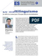 Le Multilinguisme - Note d'analyse géopolitique n°21