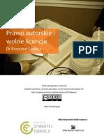 Prawo autorskie i wolne licencje