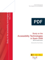 Executive Summary Study on the Accessibility Technologies in Spain 2008