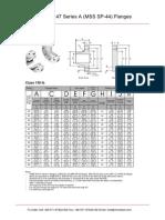 ASME B16.47 Series a Flange