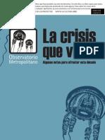 La Crisis Que Viene. Observatorio metropolitano.