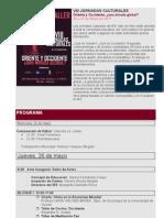 Programa Jornadas Culturales 2011
