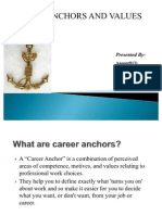 Career Anchors and Values Final Anu