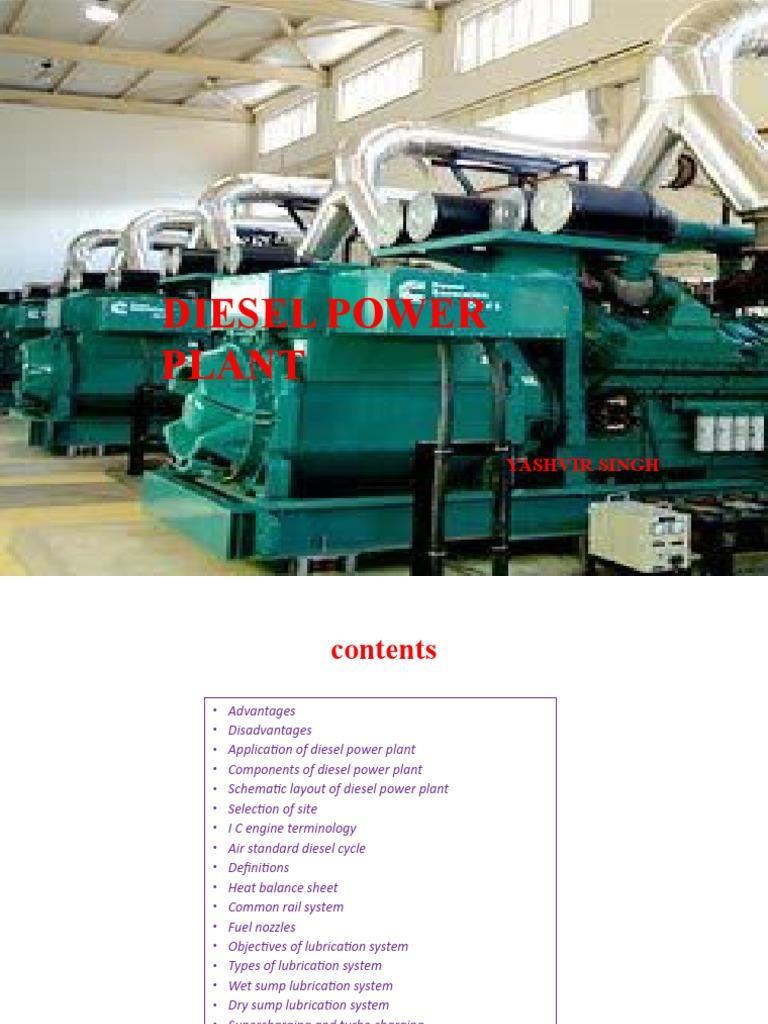 Diesel Power Plant Engine Diagram