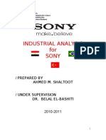 Industry Analysis for Sony