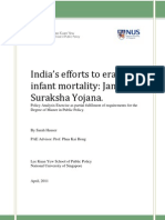 India's efforts to eradicate  infant mortality