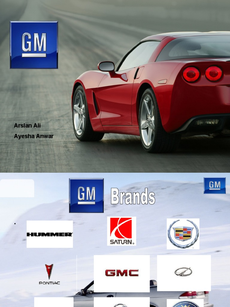 A CASE STUDY OF GENERAL MOTORS; Advice for Detroit's ...