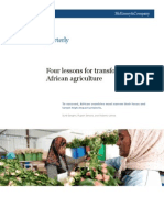 Four Lessons for Transforming African Agriculture