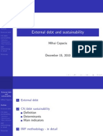 Presentation External Debt Sustainability