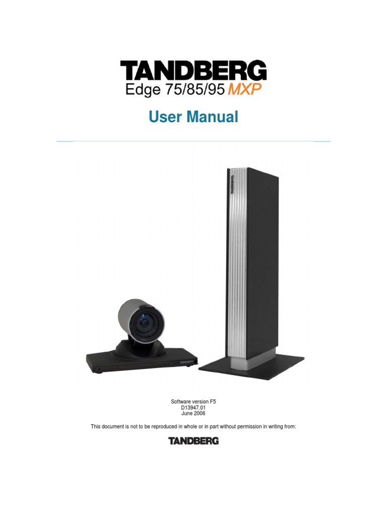 tandberg edge 95 85 75 mxp user manual f5 electronic waste rh pt scribd com tandberg 880 mxp installation guide Tandberg 880 EOL
