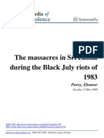 The Black July Riots 1983
