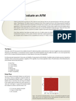 How to Evaluate an AFM