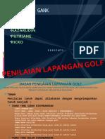 Penilaian Lapangan Golf ppt