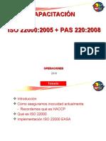 Capacitación ISO 22000 (Operaciones)