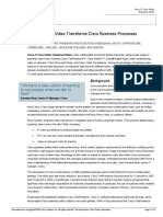 How Business Video Transforms Cisco Business Processes